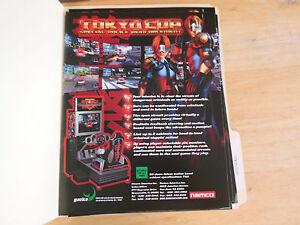 Tokyo Cop Arcade Game Flyer Collectibles Arcade, Jukeboxes & Pinball