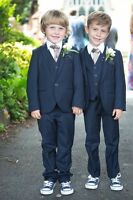 Fashion Wedding Page Boys Kids Tuxedos Custom 3 Piece Babys Toddlers Party Suits