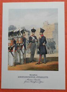 Aimable Mousquetaire Bataillon Mecklembourg Strelitz Uniforme Monten Pierre Pression 1978-afficher Le Titre D'origine