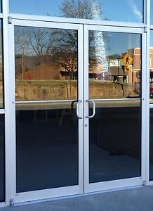 Commercial Storefront Door Frame Closer 6 39 0 X 7 39 0 Pair Clear Finish Ebay