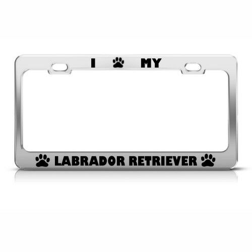 License Plate Frame Labrador Retriever Dog Dogs Car Accessories Stainless Steel