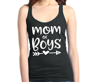Mom-of-Boy-Racerback-Tank-Top-Mother-039-s-Day-Family-Love-Mom-Gift-Tee