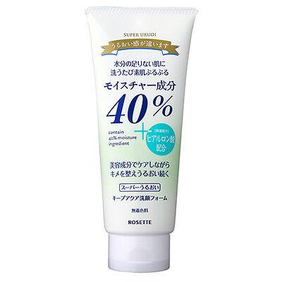 Rosette Facial Cleansing Foam 40% Super Uruoi Keep Aqua Hyaluronic Acid 168g