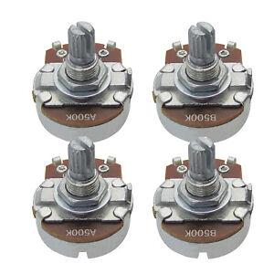 2PCS-A500k-2PCS-B500k-Guitar-Pots-Full-Size-Short-Split-Shaft-Potentiometers