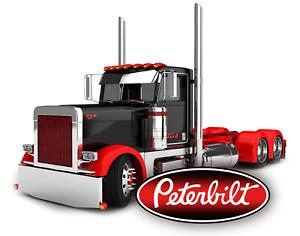 PETERBILT SEMI TRUCK STICKER DECAL GARAGE LABEL MAN CAVE TOOLBOX MADE IN USA
