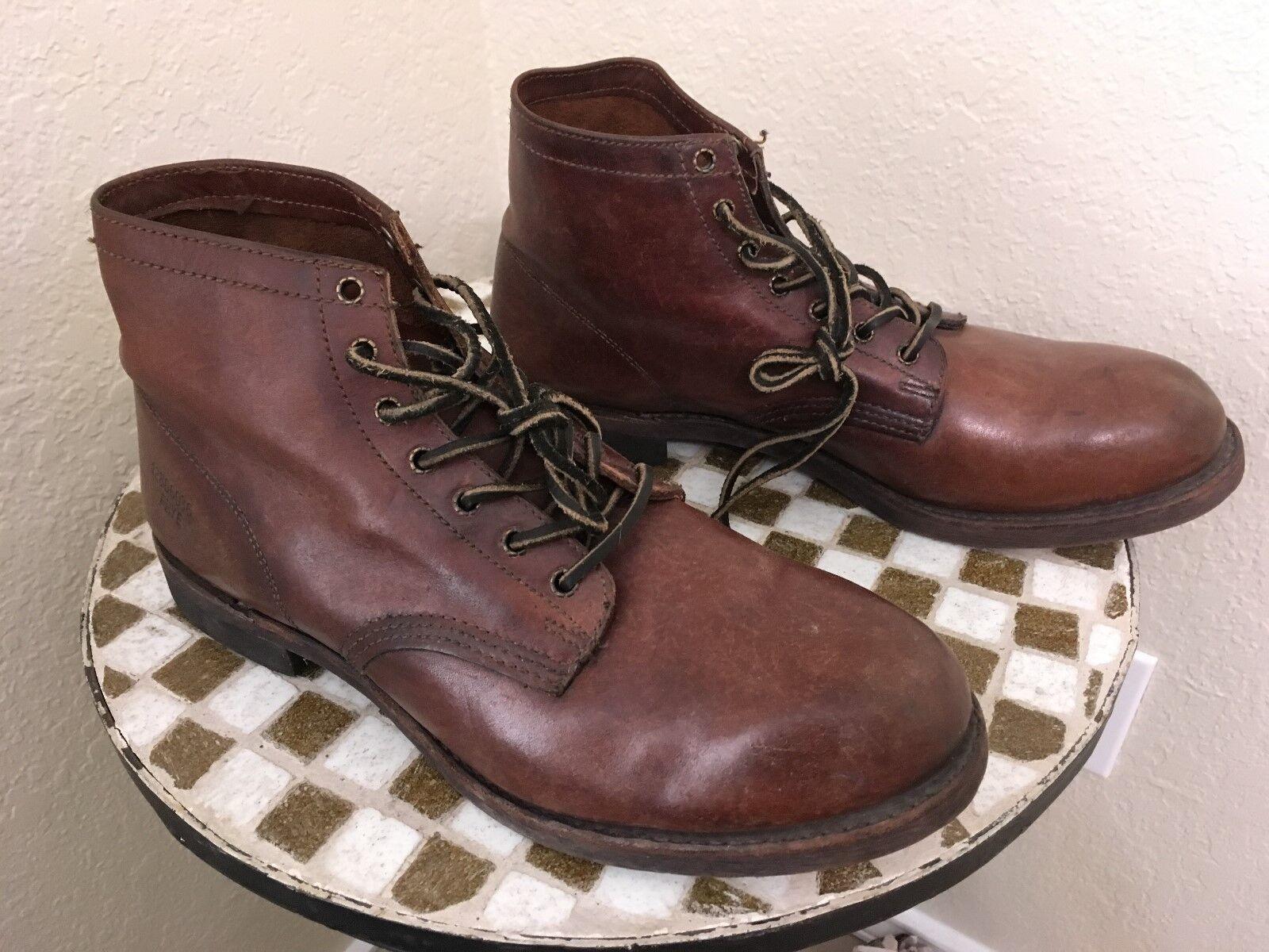 VINTAGE FRYE USA braun LEATHER WORK CHORE TRUCKER Stiefel Stiefel Stiefel 13 M e7b184