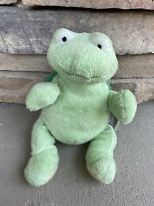 """TY Pluffies """"Zips The Turtle"""" Plush Lovey 2007 Beanie Tylux Green MINT!"""