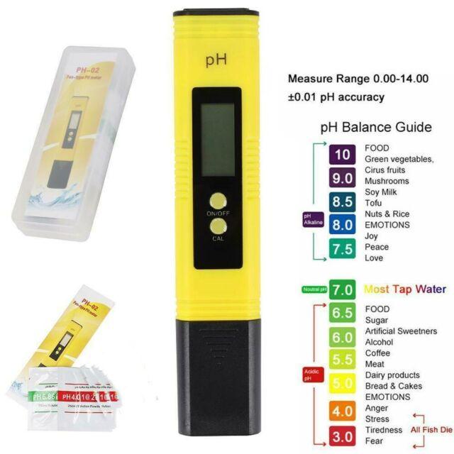 LCD PH Wert Wasser Messgerät Messer Testeur Mètre Aquarium Piscine pruefer 0-14 NEU
