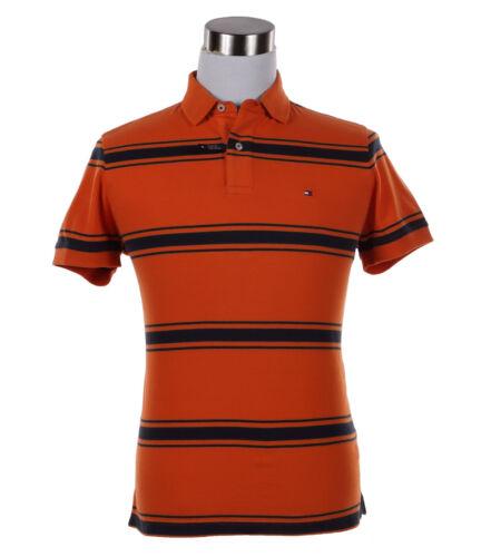 $0 Free Ship Tommy Hilfiger Men/'s Short Sleeve Custom Fit Striped Polo Shirt