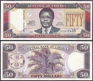 LIBERIA 5 DOLLARS 2011 UNCIRCULATED