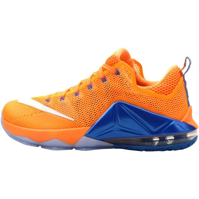 60869abf96e Nike Lebron 12 XII Low Mens Basketball Shoes Sz 11 Citrus Orange ...