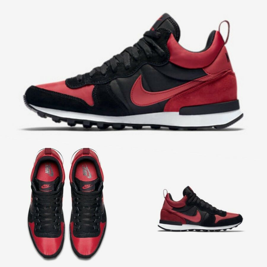 Nike Internationalist Mid Varsity Red Black White 682844 606 Sz 8-10 Limited