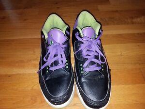 finest selection d8ecd a9320 Image is loading Air-Jordan-Retro-3-Joker-Black-Purple-Green-