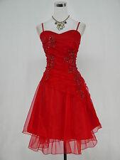 Cherlone Rot Cocktailkleid Party Ballkleid Abendkleid Brautjungfer Kleid 36