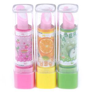 1XChild-Lipstick-Shaped-Eraser-Student-Stationery-Xmas-Gift-Pencil-Erasers