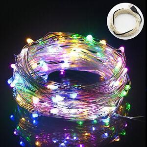 10m-33ft-USB-LED-Lichterkette-Kupferdraht-100-LEDs-Wasserdich-Mehrfarbig-Xmas