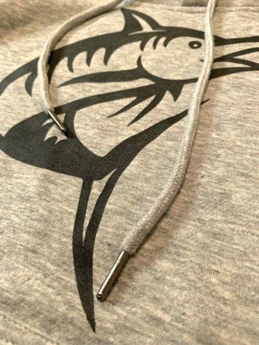 Premium Custom Hoody Pullover Atlantic Sports Warmup Grey /& Black Marlins