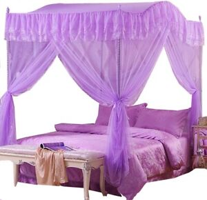 Home-Princess-4-Corners-Post-Insect-Bedding-Canopy-Netting-Curtain-Mosquito-Net