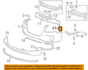 GMC GM OEM 16-17 Terrain Front Bumper Grille-Trim Cover Right 23372630