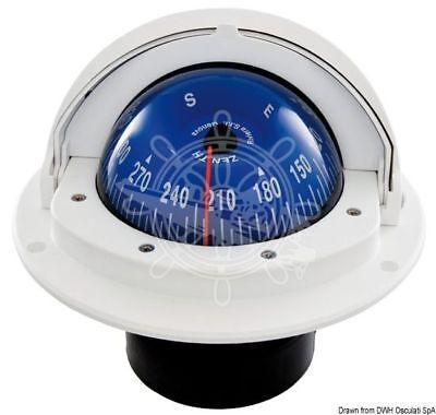 """RIVIERA Idra Series Boat Marine Compass 3/"""" 80mm Black Built-in"""
