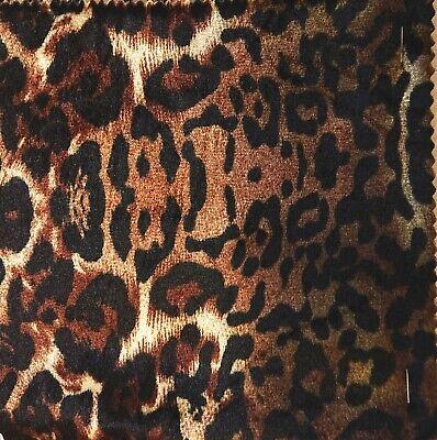 Animal print Velour 150 cm wide Dress fabric-Cheetah FREE P /& P
