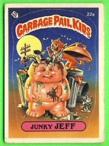 1985 UK Garbage Pail Kids 1st Series Card 22a Junky JEFF