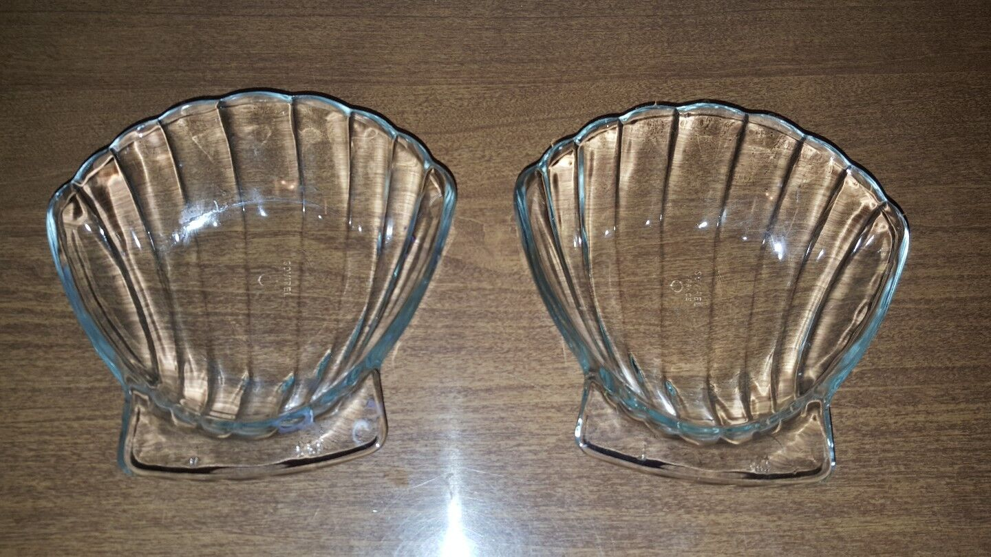 1 set of 2 Snack Bowls French Shell with dipschale servierschale Party Cover