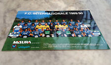 CARTOLINA UHLSPORT FC INTER 1989-90 MISURA CALCIO POSTCARD VINTAGE no maglia