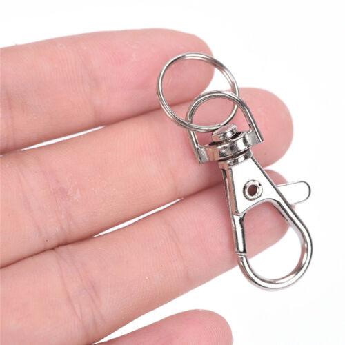 2//10//20Pcs Steel Lobster Swivel Clasps Trigger Clips Snap Hooks for Keyring Key