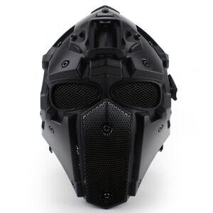 Wosport-Full-Face-Adjustable-Helmet-Protective-Obsidian-Biscuits-CF-CS-Game