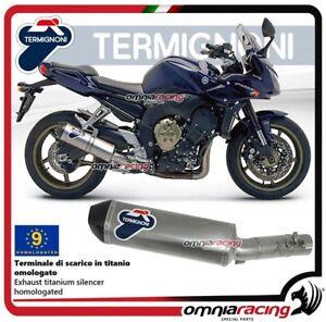 Termignoni-RELEVANCE-Tubo-de-Escape-titanio-aprobado-para-Yamaha-FZ1-2011-gt-2016