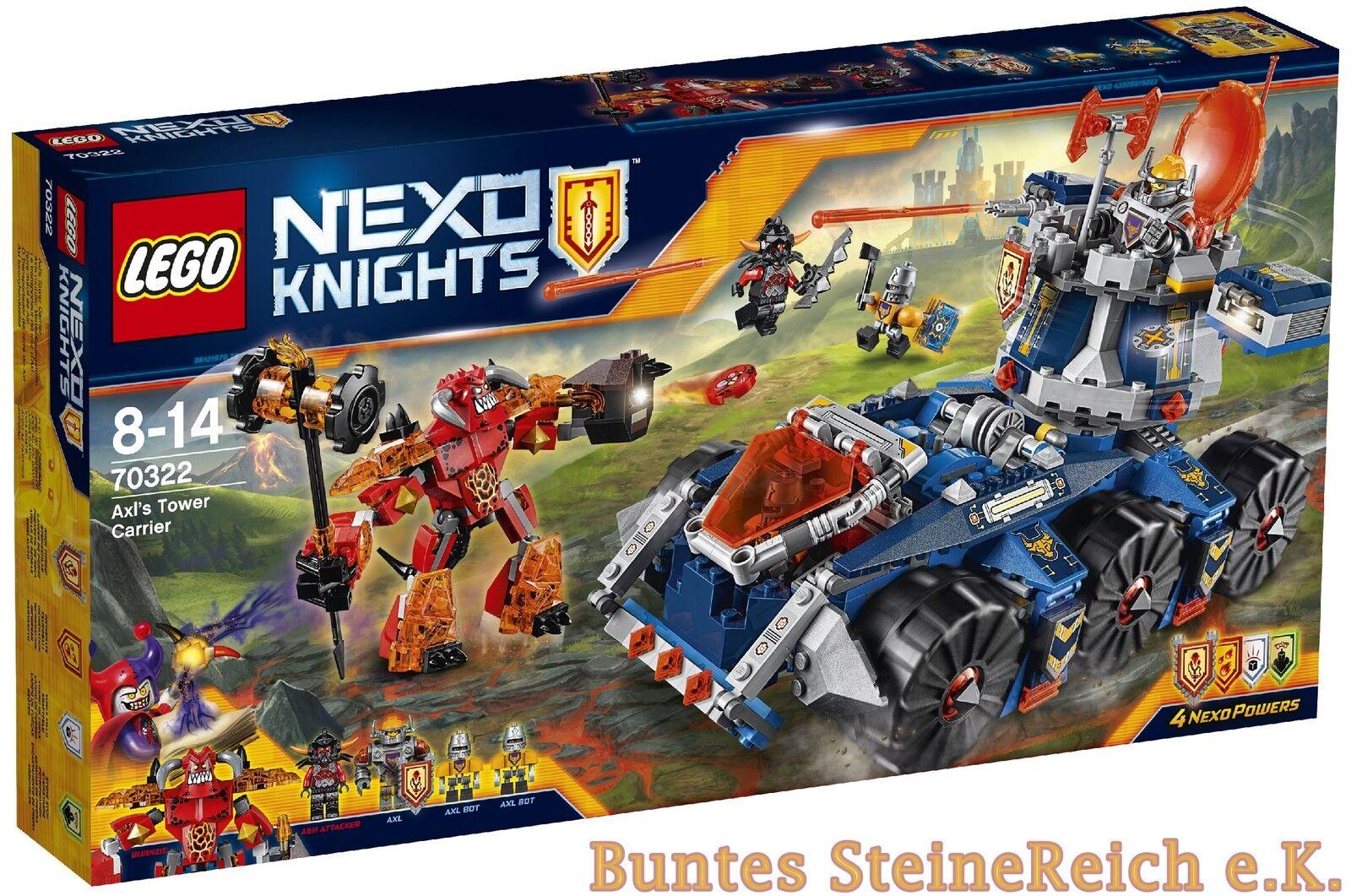 LEGO® NEXO KNIGHTS™: 70322 Axls mobiler Verteidigungsturm 0.-€Versand OVP NEU