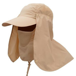 79412f3d2d9 Details about Removable Outdoor Sports Hiking Sun Hat Protect UV Face Flap  Neck Fishing Cap 02