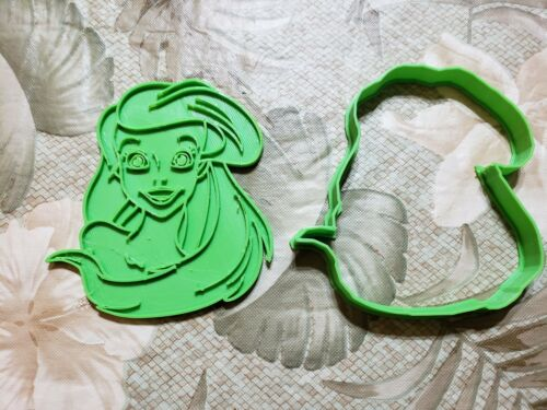Ariel Cookie Cutter//Little Mermaid//Fondant Cutter//Playdoh Cutter