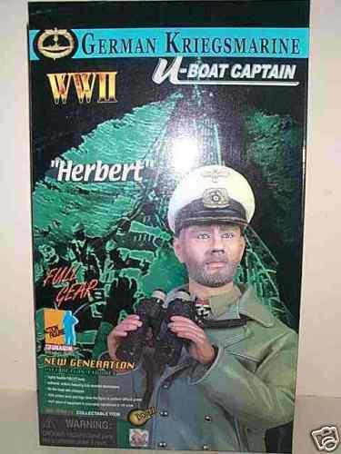 DRAGON 12 INCH WWII GERMAN NAVY KRIEGSMARINE U-BOAT CAPTAIN HERBERT MIB
