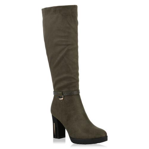 Damen Klassische Stiefel Metallic Strass Lack Gefütterte Schuhe 818168 Trendy