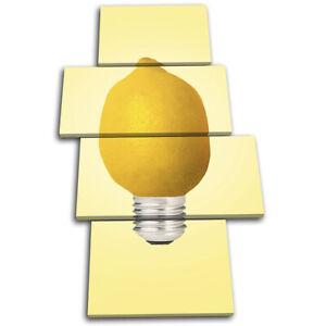 Lemon-Lightbulb-Abstract-Food-Kitchen-MULTI-CANVAS-WALL-ART-Picture-Print