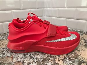 cc0b4590d74 Details about Nike KD 7 VII Global Game Action Red Metallic Silver Men SZ  11.5 653996-660