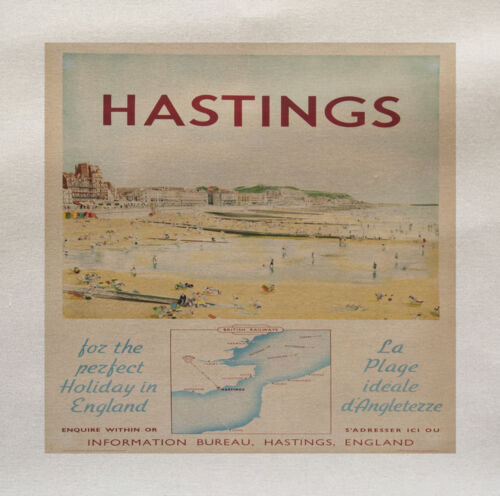 Hastings Travel Printed Fabric Panel Make A Cushion Upholstery Craft