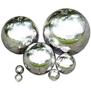 Gartenkugel-Edelstahl-Rosenkugel-Kugel-Edelstahlkugel-Poliert-Schwimmkugel