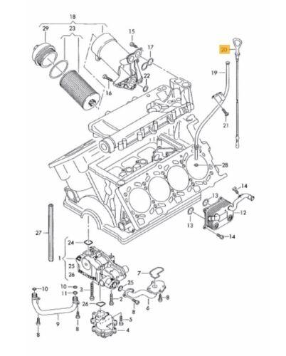 NEW GENUINE AUDI A4 S4 01-08 A6 S6 05-08 V8 4.2 PETROL ENGINE OIL DIPSTICK