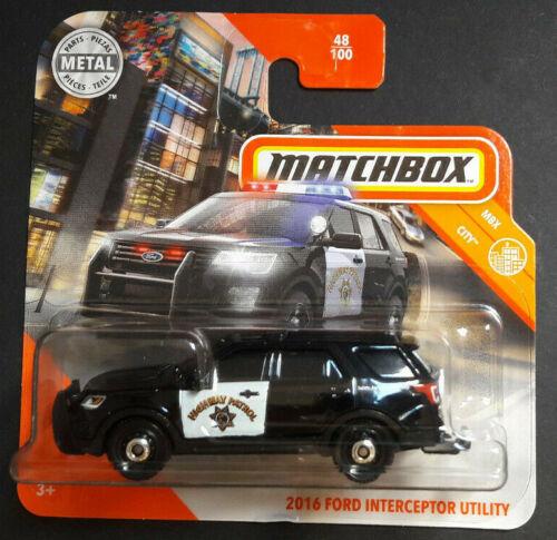 MATCHBOX 2020 2016 FORD INTERCEPTOR UTILITY MBX CITY NEU /& OVP