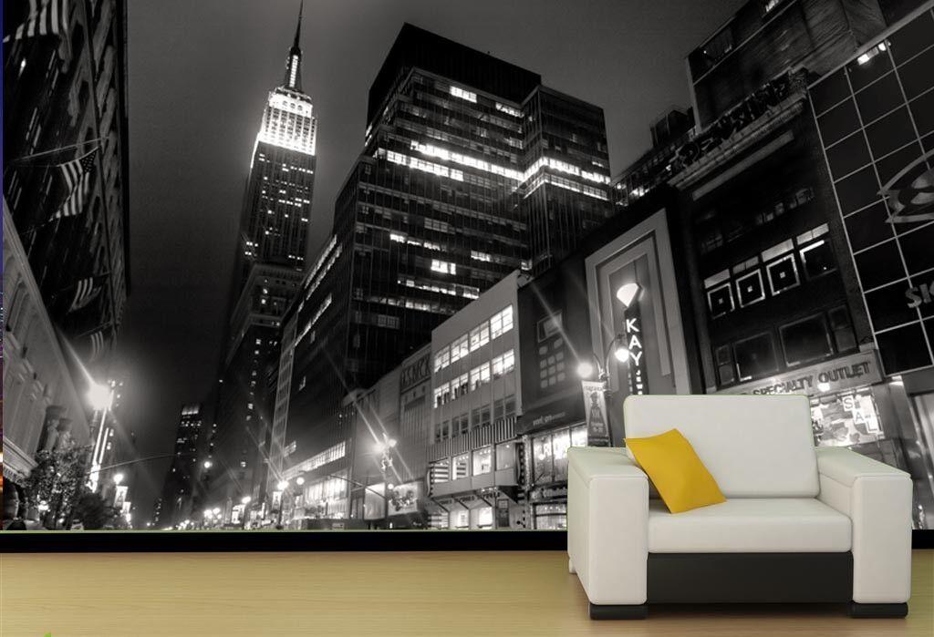3D Schwarz-Weiß-Foto Stadt 83 Tapete Wandgemälde Tapete Tapeten Bild Bild Bild Familie DE | Reichhaltiges Design  | Haltbarkeit  14efda