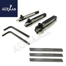 Set Of 3 Lathe Mini Parting Cut Off Tool Holder With 5mm M2 Hss Blade 6 Pcs Set
