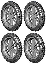 4 Lego XL MOTOCROSS Tires + Wheels (technic,bike,cycle,bicycle,trial,motorcycle)