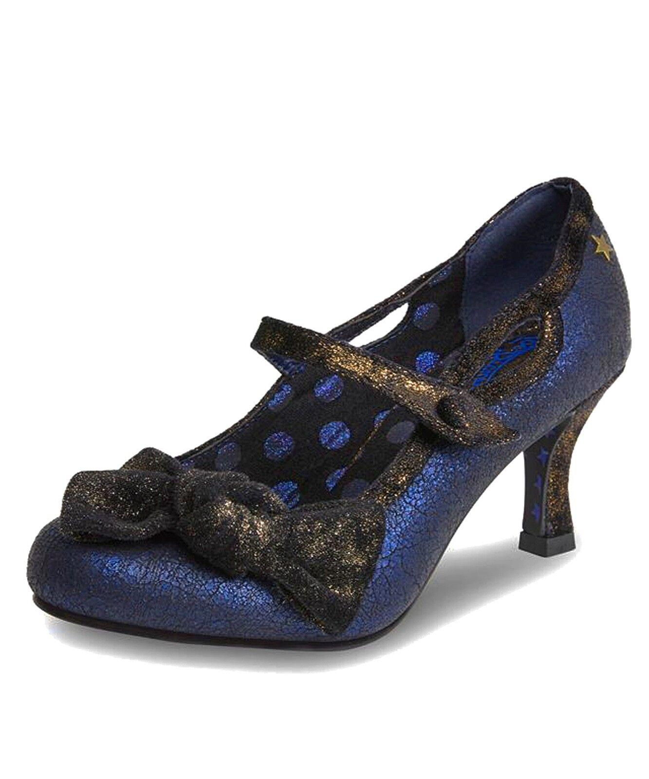 Joe brauns NEW Jezabel navy Blau braun metallic high heel mary jane schuhe sz 4-8