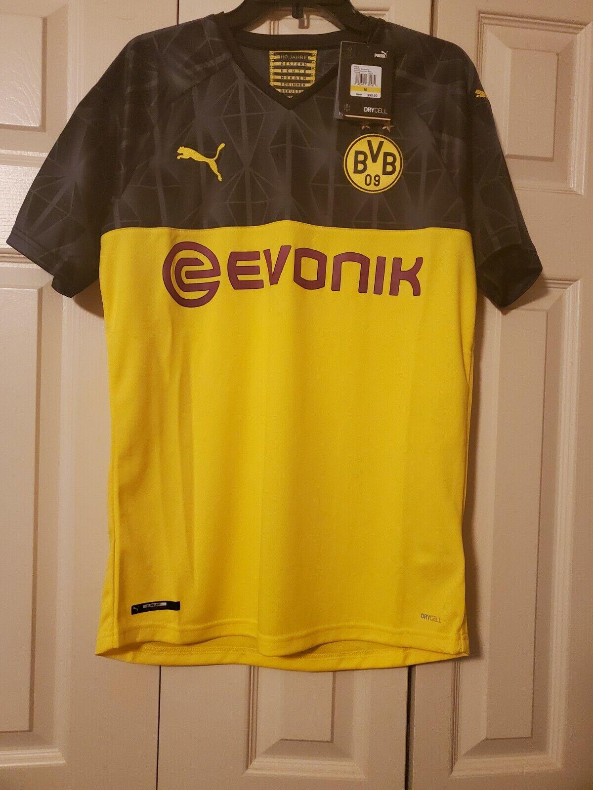 Puma Borussia Dortmund Away Stadium Jersey 14 15 Black Yellow Mens S Reus Name For Sale Online Ebay