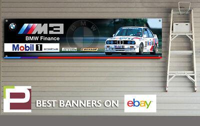 M3 M Sport Garage Man Cave BMW e30 Warsteiner BTCC Banner for Workshop
