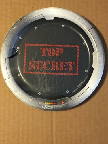 """Details about  /NEW STRANGER THINGS TOP SECRET PAPER PLATES 7/"""" 8 CT 2020"""