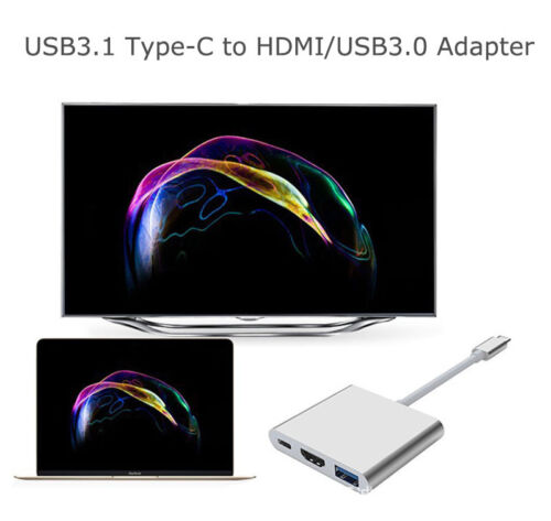 USB Type-C to USB3.0//HDMI HUB Dock Splitor For MacBook Power Charging //TV//Data